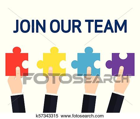 Vector JOIN OUR TEAM Clipart.