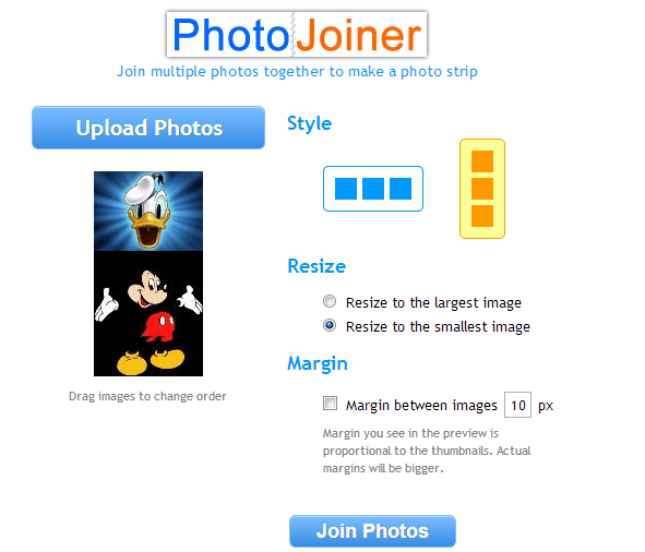 Join Two Photos online Using PhotoJoiner.net.