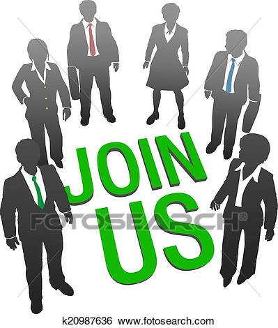 Join Us business company people HR Clip Art.