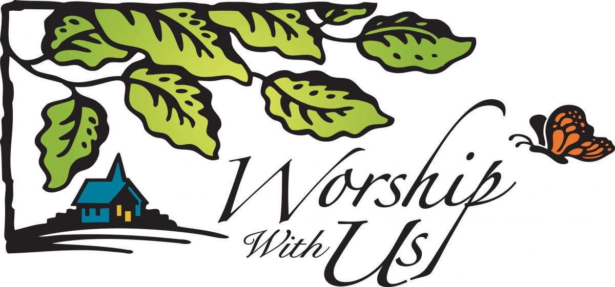 Worship With Us Clipart.