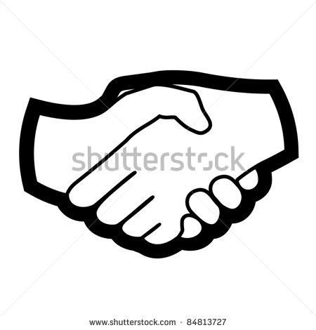 Hands joined together clipart.