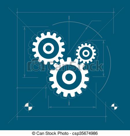 Vector of Gears , Teamwork , Joint Effort.