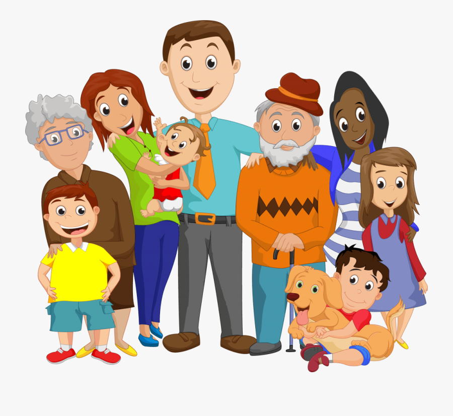 Joint Family Drawing Easy , Free Transparent Clipart.