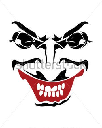 Joker mouth clipart.