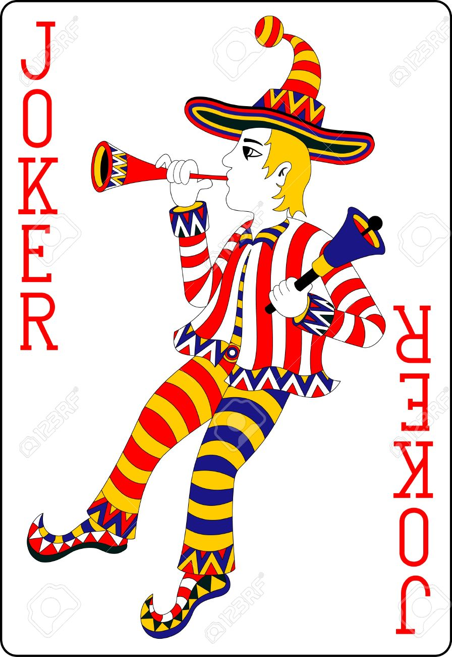playing card joker 62x90 mm.