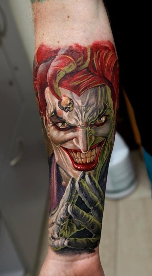 20 Twisted DC's Joker Tattoos.