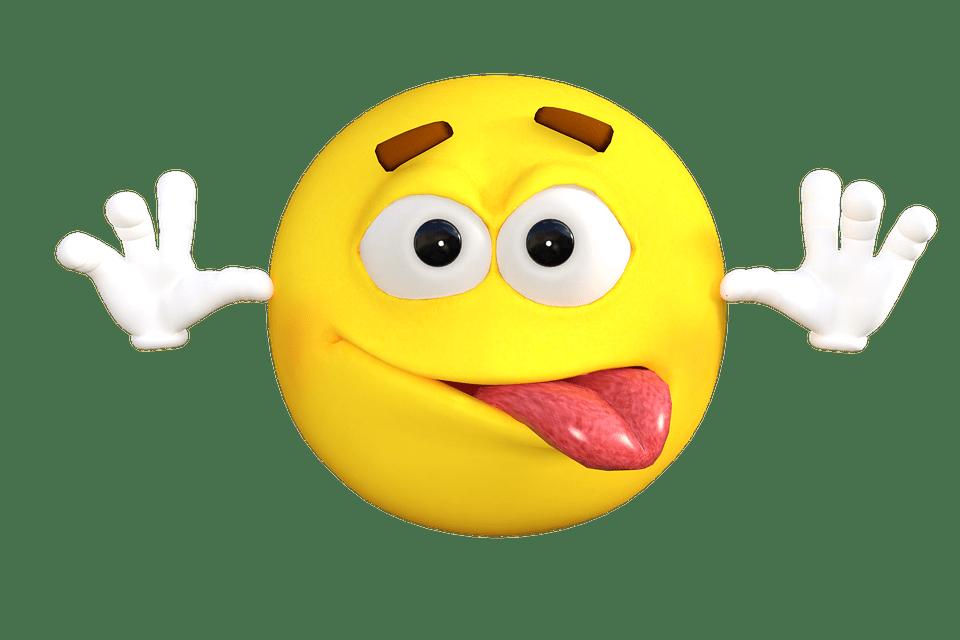 Joke Emoji transparent PNG.
