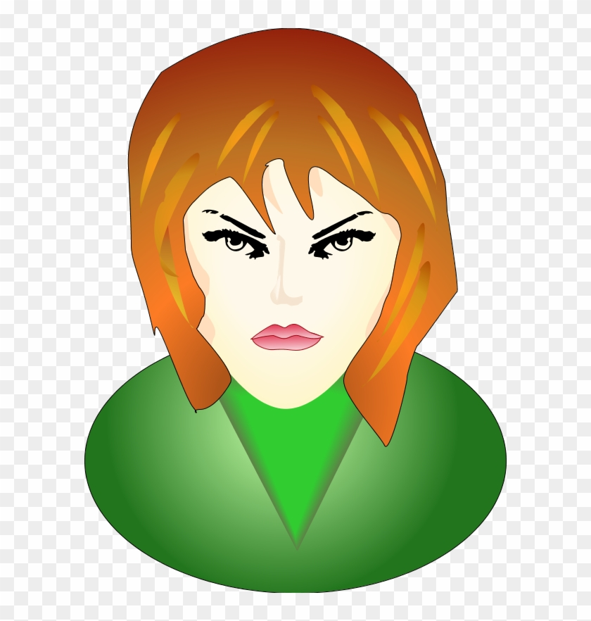 Woman Angry Face.