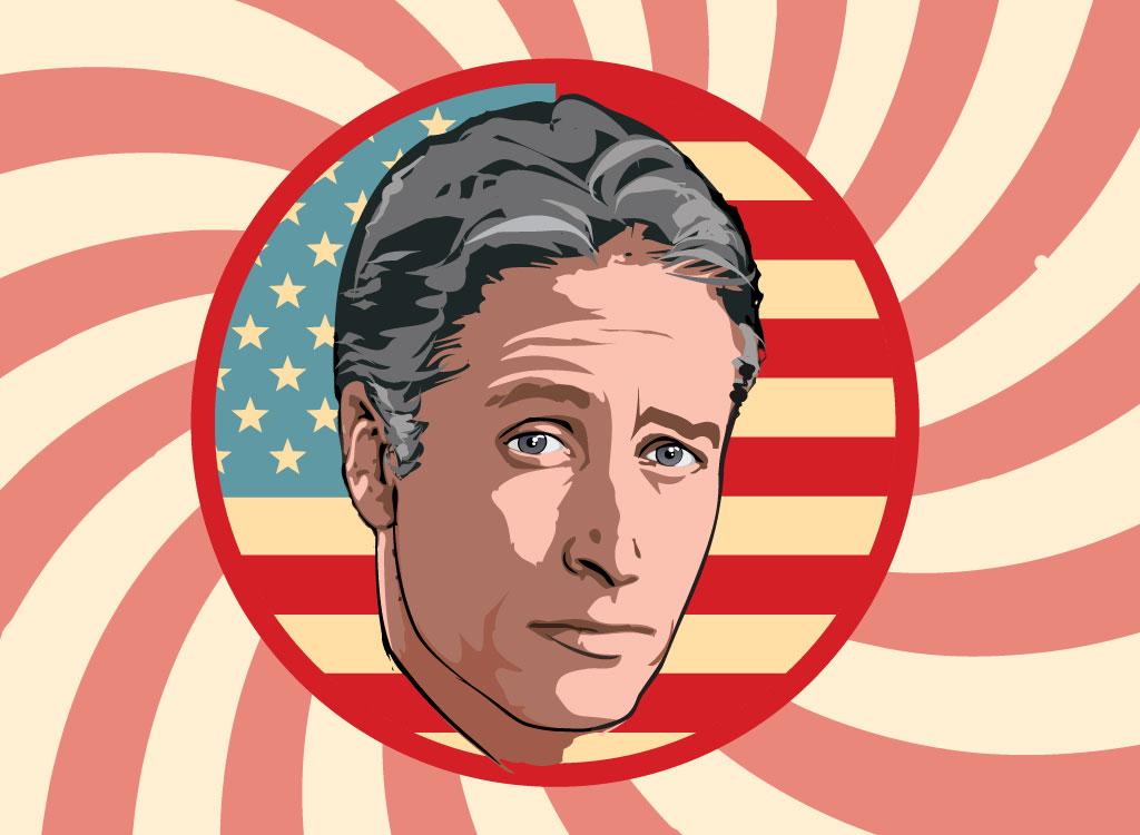 Jon Stewart Illustration.