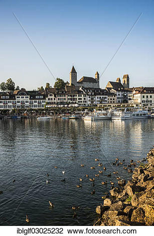 """Stock Photo of """"Harbour promenade, harbour, Rapperswil, Rapperswil."""