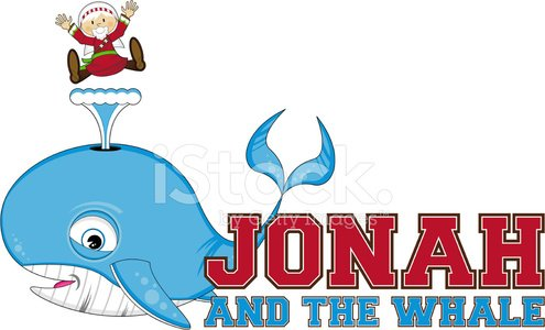 Jonah and the Whale Illustration Clipart Image.