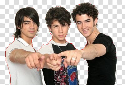 Jonas Brothers transparent background PNG clipart.
