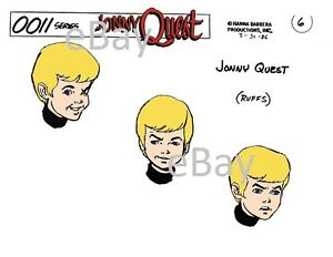 Details about JONNY QUEST MODEL SHEET PRINT Hanna Barbera.