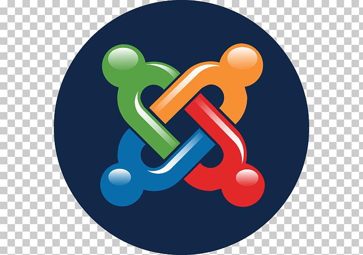 Symbol logo, Joomla, orange, red, blue, and green chain.