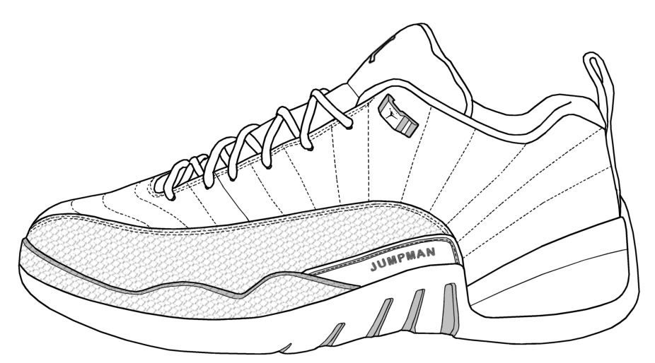 Basketball Shoe Coloring Pages in 2019.