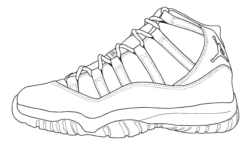 Jordan Retro 12 Coloring Pages.
