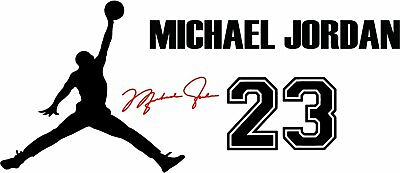 Flight Jordan Jumpman Logo Huge 23 Signature AIR Decal Sticker Wall  Automobile.