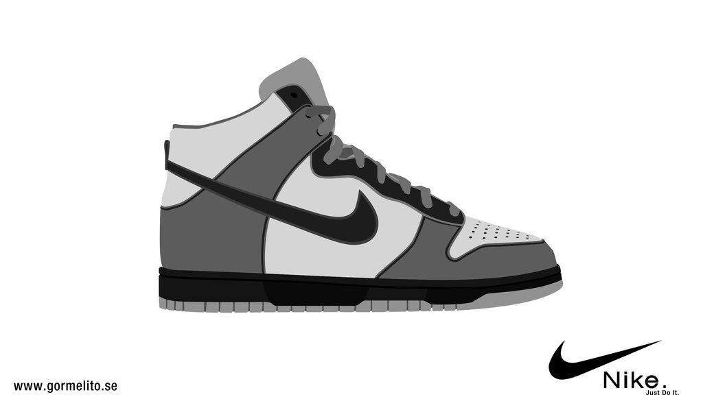 Jordan shoes clipart.
