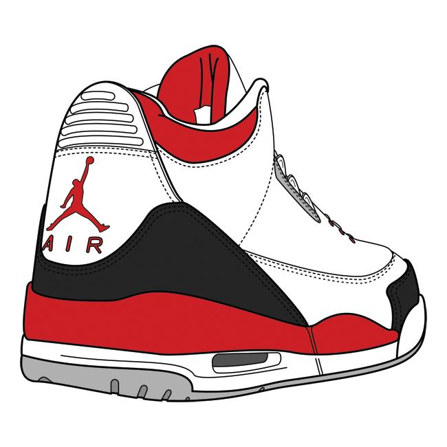 S Jordan Shoes Drawings Clipart.