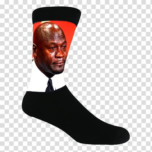 Amazon.com Michael Jordan Sock Crying Jordan Internet meme.
