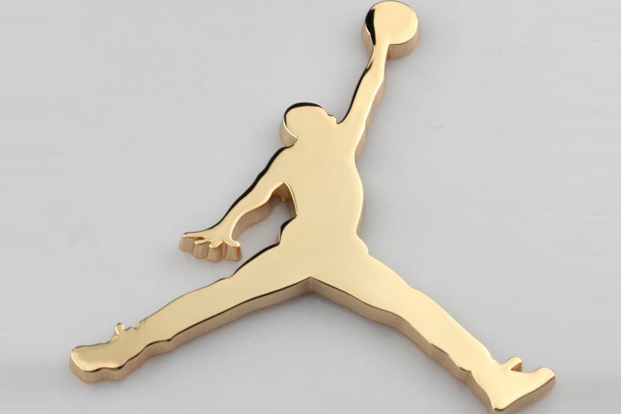 Gold Air Jordan Logo.