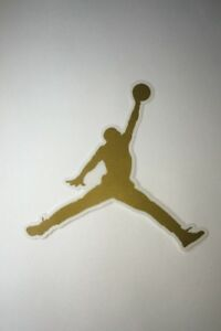 Details about Jordan Logo Gold Sticker.