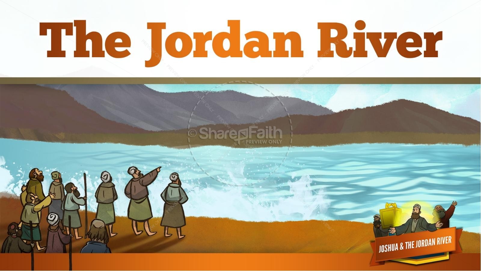 Joshua 3 Crossing the Jordan River Kids Bible Story.