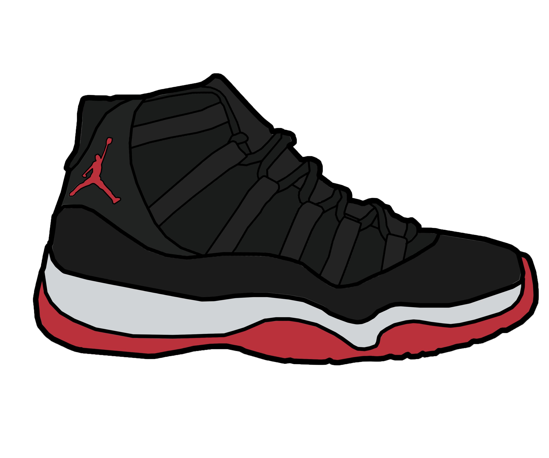 Air Jordan 11 Clipart.