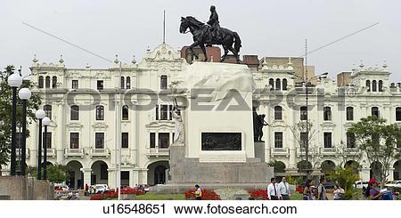 Stock Photography of Monument of Jose de San Martin, Plaza San.