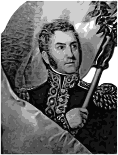 José de San Martín portrait vector image.