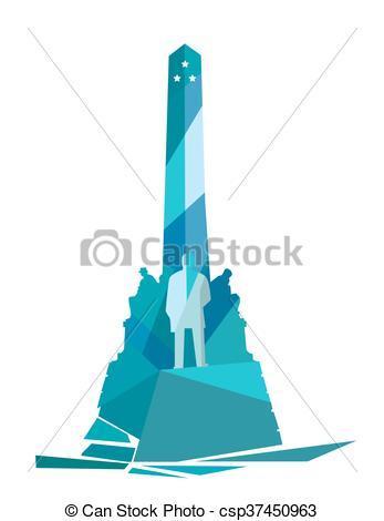 Clip Art Vector of Jose Rizal Monument.