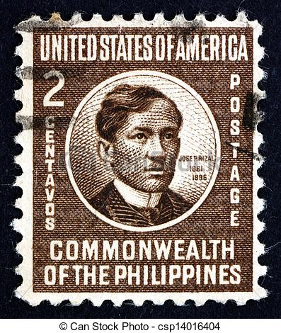 Stock Photography of Postage stamp Philippines 1946 Jose Rizal.