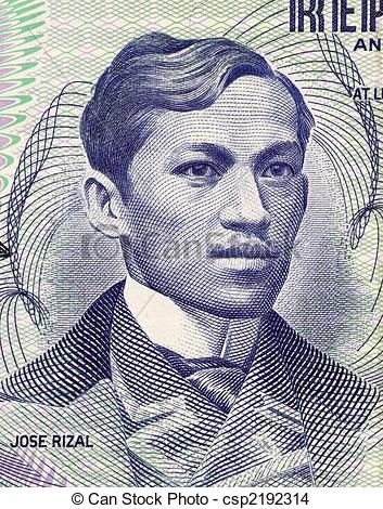Stock Photo of Jose Rizal on 1 Piso 1969 Banknote from Philipines.