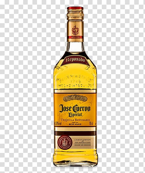 Jose Cuervo Especial tequila bottle, Tequila Distilled.