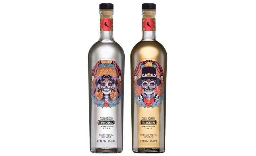 Jose Cuervo celebrates Día de Muertos with packaging.