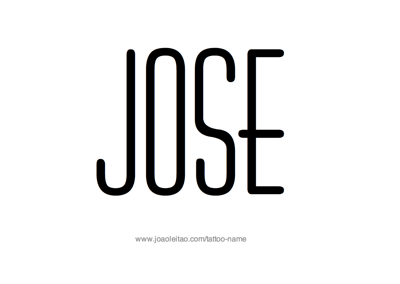 Jose Name Tattoo Designs.