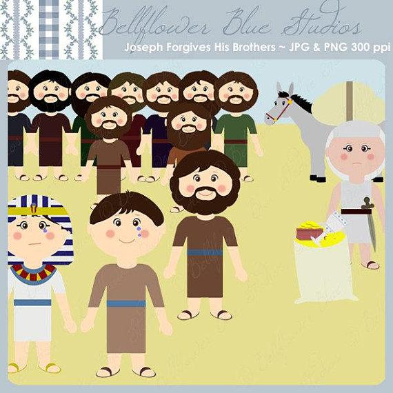 Joseph Digital Clipart: Joseph Forgives His Brothers.
