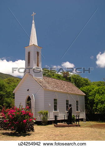 Stock Photo of Kamalo, Molokai, HI, Hawaii, East Molokai, St.