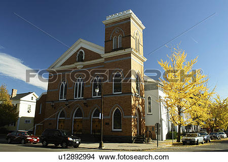Stock Photo of Kingston, NY, New York, St. Joseph Church, Parish.