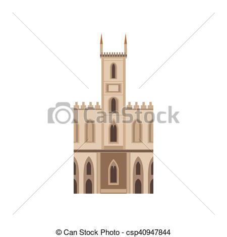 EPS Vector of Saint Joseph Church As A National Canadian Culture.