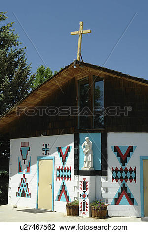 Stock Photo of Ethete, WY, Wyoming, Wind River Indian Reservation.