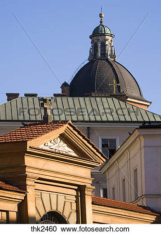 Stock Photography of Poland, Krakow, Poselska street, st Joseph.