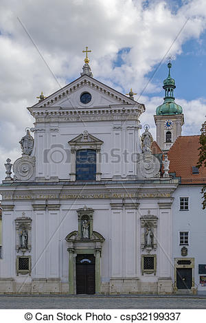 Stock Photos of Karmelitenkirche St. Joseph church, Regensburg.