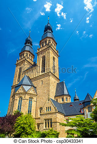 Stock Photo of The St. Joseph Church in Speyer, Germany.