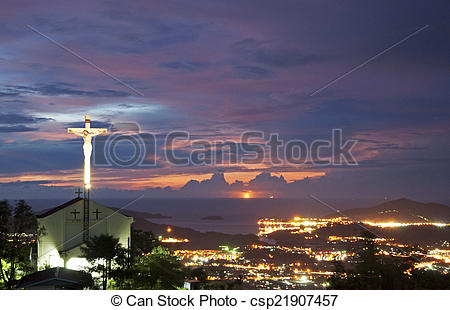 Stock Images of St. Joseph Church of Menggatal, Kota Kinabalu.