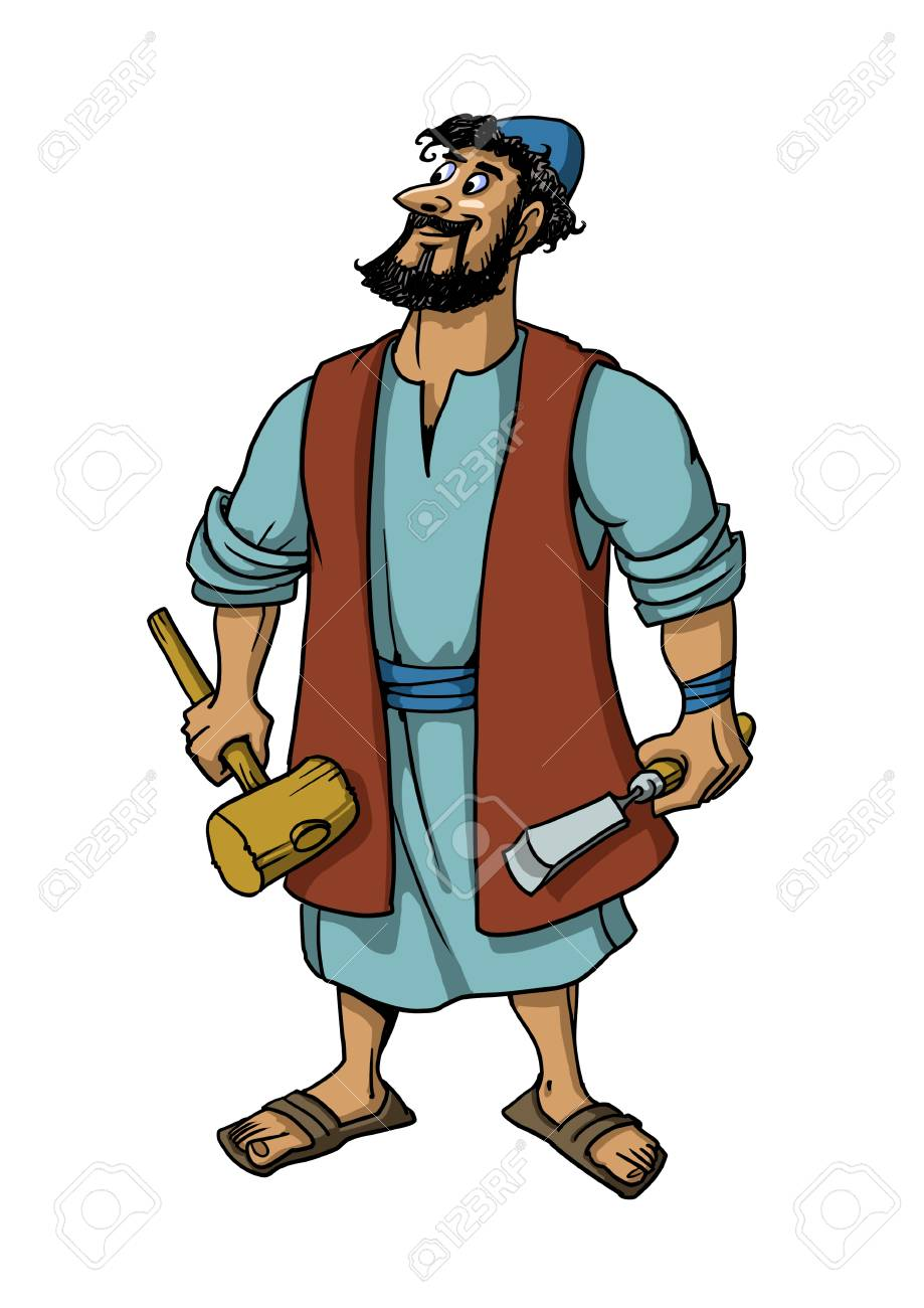 Joseph the carpenter, husband of Mary, the earthly Father of...
