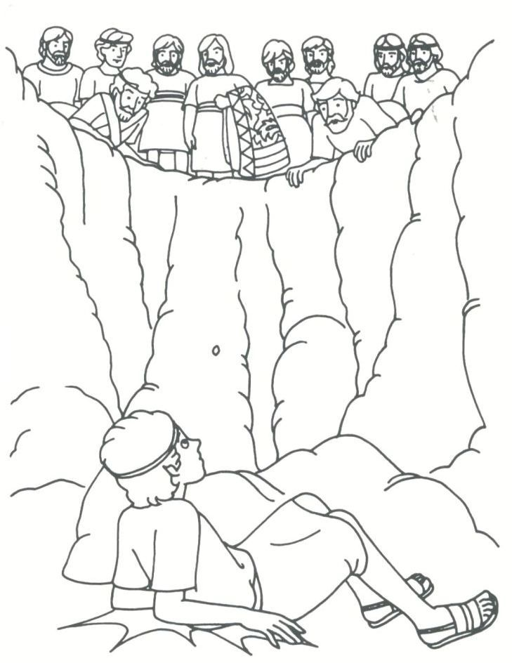 joseph sold by his brothers coloring page.