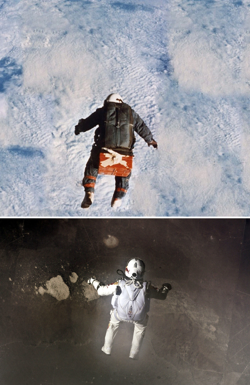 Leap into the void of history. Joe Kittinger made his historic.