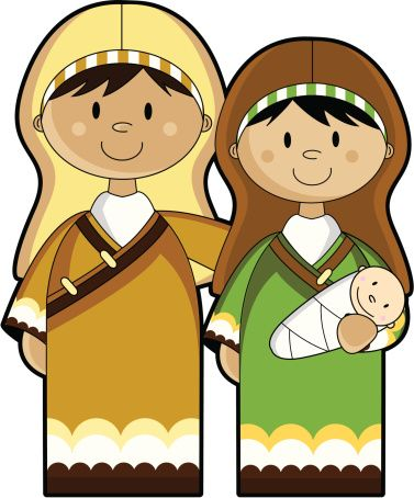 Mary Joseph and Baby Jesus.