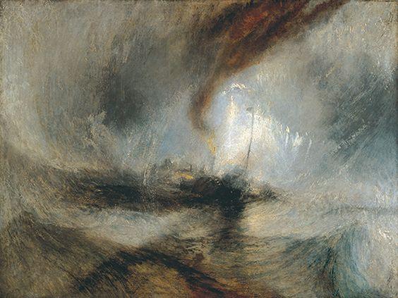 Vapor numa tempestade de neve, 1842 J.M.W. Turner óleo sobre tela.